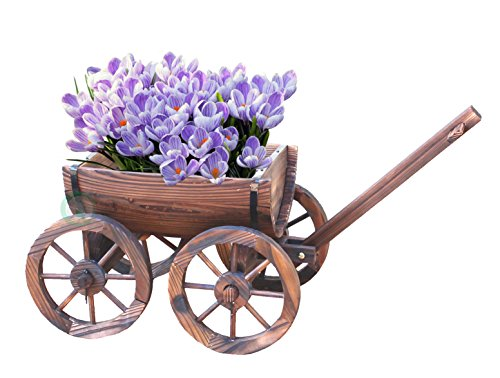 Half Wagon - Gardenised Half Barrel Wagon Planter