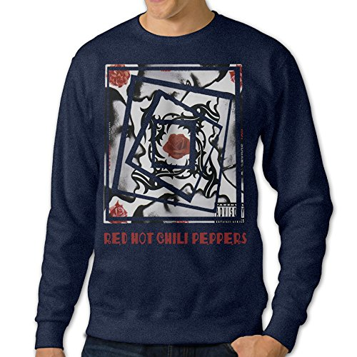 Carina Red Hot Chili Men's Fashion Pullover Hood Navy S