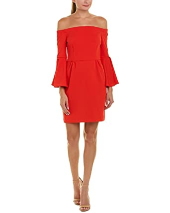 3d91a6e85e092b Image Unavailable. Image not available for. Color: Trina Trina Turk Womens  Sheath Dress, 12, Red