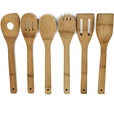 All Natural Healthy Bamboo Cooking Utensils. No Plastic. No Petrochemicals. No Glues. No Varnishes. Just Pure Raw Bamboo. by Metal Glass & Wood
