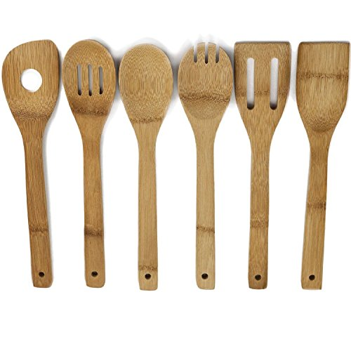 100% Organic All Natural Healthy Bamboo Utensils. No Plastic. No Petrochemicals. No Varnishes. Just Pure Raw Organic Bamboo Cooking Utensils.
