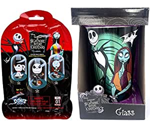 Nightmare Before Christmas collectible Disney Original Mini's Domez Blind Bag Mystery Figure + Character Drinking Glass Jack Skellington Sally 16oz