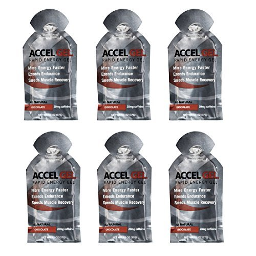 Accel Gel Rapid Energy Gel – Chocolate – 6 Pack (6 x 1.3oz Packs)