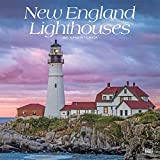 Books : New England Lighthouses 2020 12 x 12 Inch Monthly Square Wall Calendar, USA United States of America East Coast Scenic Nature (English, French and Spanish Edition)