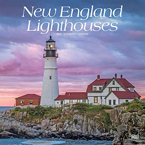 (New England Lighthouses 2020 12 x 12 Inch Monthly Square Wall Calendar, USA United States of America East Coast Scenic Nature)