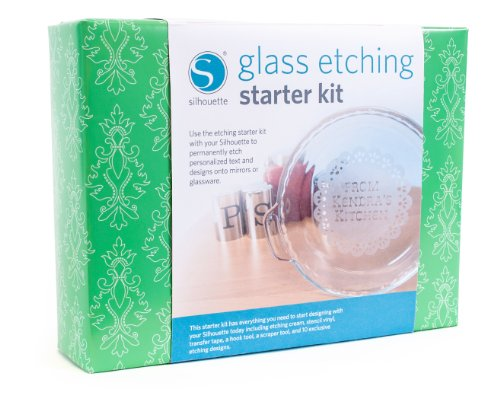 Glass Starter Kit (Silhouette Glass Etching Starter Kit)