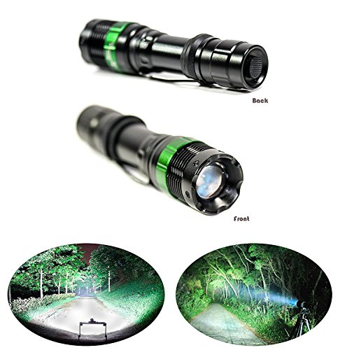 PREMIUM Advance LED Tactical Rechargeable 18650 Battery LED - Black Strike Anywhere Matches