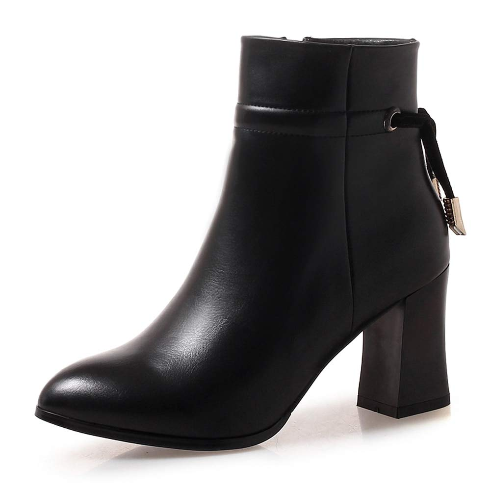 HOESCZS 2018 Hohe Qualität Große Größe 33-43 Elegante Winterstiefel Frau Schuhe Zip Up Süße Bowtie Stiefeletten Schuhe Frau,