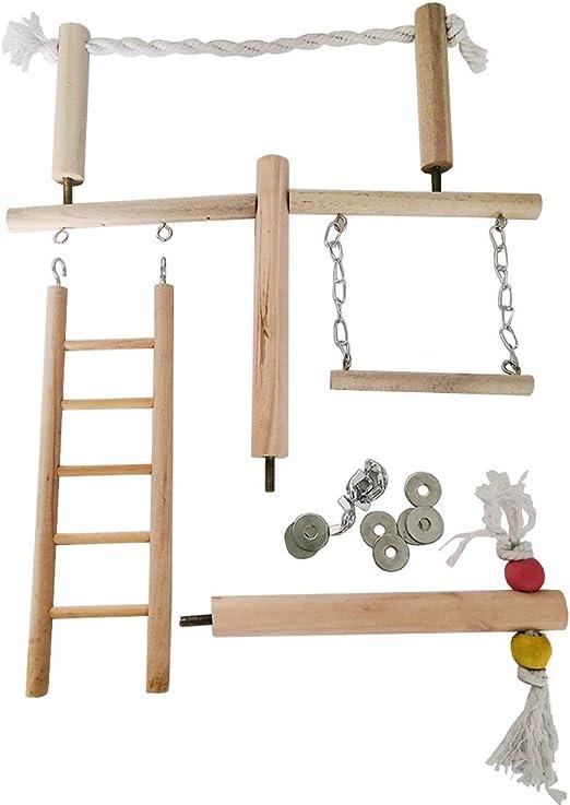 mnoMINI Juego de Juguetes para pájaros, Percha de Cuerda de algodón para Perca, Escalera para Colgar, Juguete para Masticar, Suministros para Mascotas: Amazon.es: Productos para mascotas