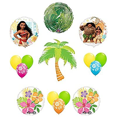 Mayflower Products Disney Moana Tropical Party Supplies Balloon Decoration 15 pc Kit: Toys & Games