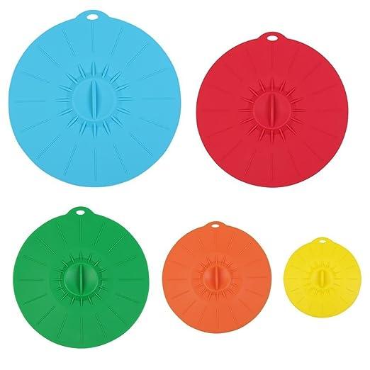 Succión de silicona tapas, tapas para microondas cubre taza [Juego ...
