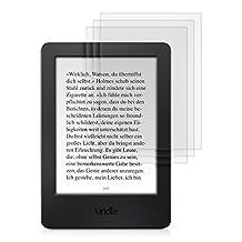 kwmobile 3x Lámina protectora de pantalla MATE y ANTIREFLECTANTE con efecto antihuellas para Amazon Kindle 2014 - CALIDAD SUPERIOR