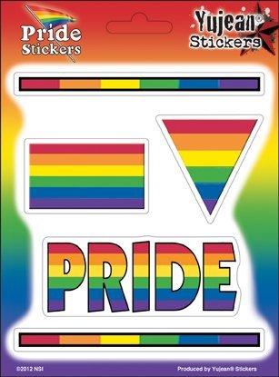NSI - Rainbow Pride Multi-Pak of 5 Stickers / Decals