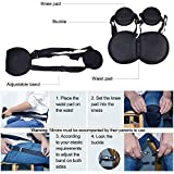 STSTECH Portable Back Support Belt Pad for Better Sitting Posture, Perfect Correcting Brace Ergonomic Waist Protector for Lower Back Pain Relief with Gift Box,for Men Women Teens Use
