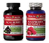 weight loss protein powder for women - ACAI BERRY EXTRACT – RASPBERRY KETONES - acai oil - 2 Bottles Combo 120 Capsules
