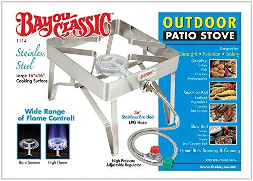 Bayou Classic 1114 Single Burner Square Patio Stove