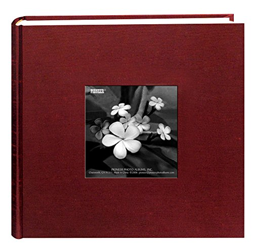 Pioneer Photo Albums 100 Pocket Cranberry Silk Fabric Frame Cover Photo Album for 4 by 6-Inch - 100 Album Pocket