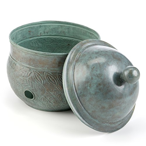 (Good Directions Key West Hose Pot with Lid, Blue Verde)