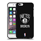 Official NBA Plain Brooklyn Nets 2 Black Soft Gel Case for iPhone 6/iPhone 6s