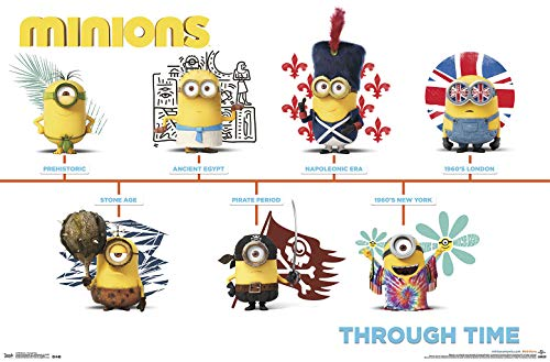 Trends International Minions-Through Time Mount Bundle Wall Poster, 22.375