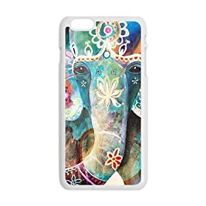 Colorful flowers elephant Cell Phone Case for Iphone 6 Plus Kimberly Kurzendoerfer