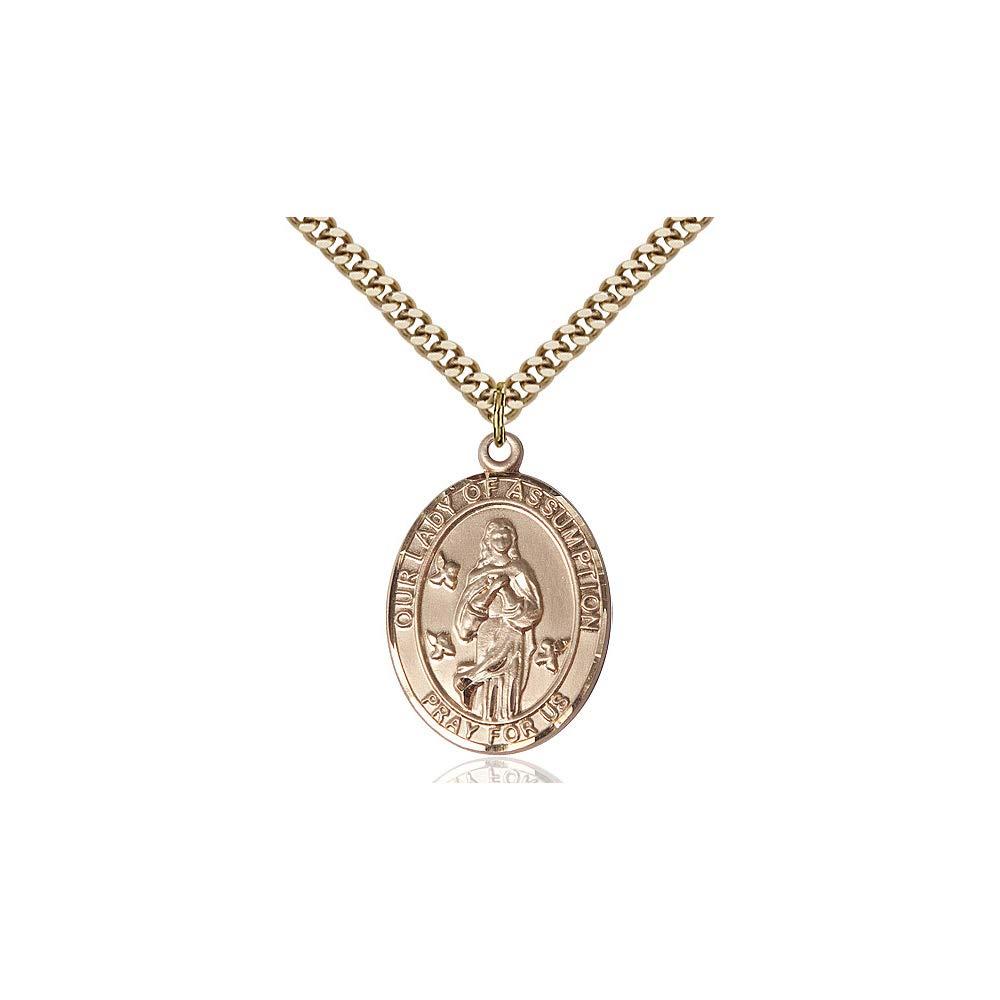 DiamondJewelryNY 14kt Gold Filled O//L of Assumption Pendant
