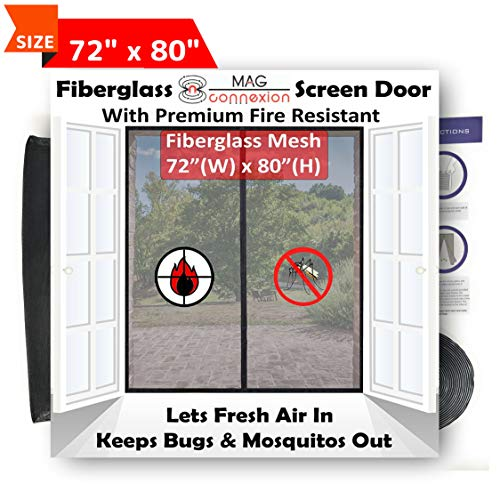 French Doors Doors Screen Retractable - Premium 72