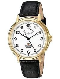 """Orient""""Monarch mecánico mano viento Acero Inoxidable y piel Vestido reloj de los hombres, color: negro (Modelo: fdd03001W0)"""