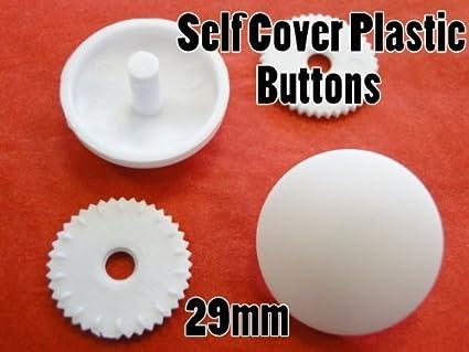 Hemline PB475.11 White Nylon Self Cover Button Snap On Back Plate 11mm 100 sets
