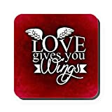 Square Coaster (Set of 4) Love Gives You Wings