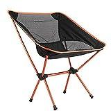 Zimo Outdoor Portable Folding Chair Aluminum Sport Camping Picnic BBQ Orange