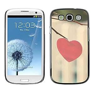 Exotic-Star ( Love Minimalist Heart ) Fundas Cover Cubre Hard Case Cover para Samsung Galaxy S3 III / i9300 i717