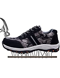 SUADEX Women's Men's Steel Toe Work Safety Shoes Industrial and Construction Shoes Hiking Trekking Shoes Outdoor Trail Shoes