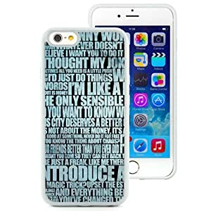 New Beautiful Custom Designed Cover Case For iPhone 6 4.7 Inch TPU With Word Background (2) Phone Case