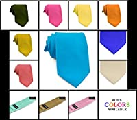 Moda Di Raza - Men's Microfiber NeckTie Modern Formal Solid Color Neckties