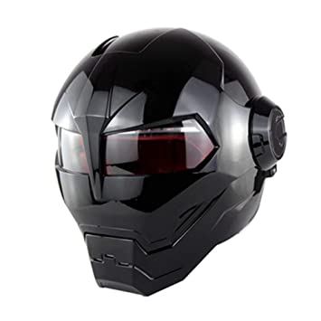 XBTECH D.O.T Personalidad De Casco De Motocicleta Certificada Harley Casco De Cara Completa Iron Man Clamshell