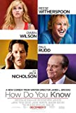 jack witherspoon - How Do You Know 27X40 Double-Sided Reg Reese Witherspoon Jack Nicholson Poster