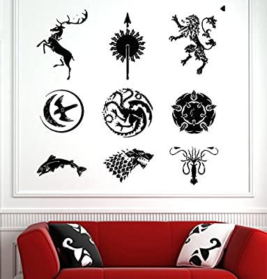 Game of Thrones Wall Decals Decor Vinyl Stickers GMO2240