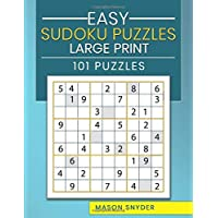 Easy Sudoku Puzzles Large Print 101 Puzzles: One Puzzle Per Page Large Print Sudoku
