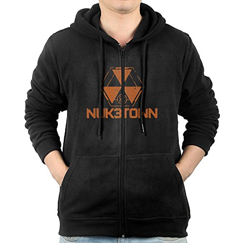 Price comparison product image Video Game Call Of Duty Black Ops III 3 Nuk3town Logo Zipper Hoodies For Men XXL Black