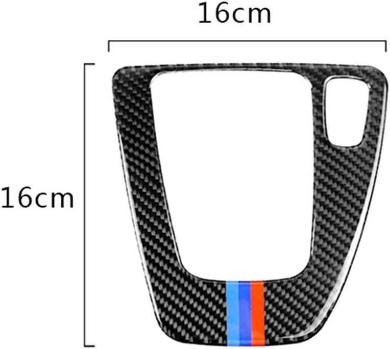 Carbon Fiber Gear Shift Control Panel Trim Cover Sticker RHD Car Replacemnt for BMW e90 e92