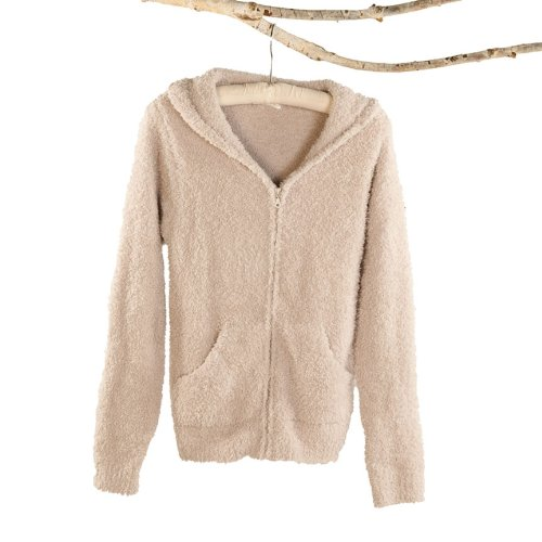 Cozy Chic Women's Hoodie - Color: Stone, Size: Small