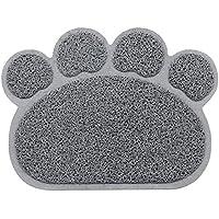 PUBAMALL Cat Litter Mat, Almohadilla de Piso Suave de fácil Limpieza para Gatos (Gris)
