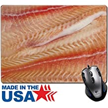 """MSD Natural Rubber Mouse Pad/Mat with Stitched Edges 9.8"""" x 7.9"""" IMAGE ID 20749023 Pangasius fillets of raw fish macro shot"""