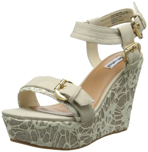 Not Rated Womens swizzle Wedge Sandal,Cream,10 M US