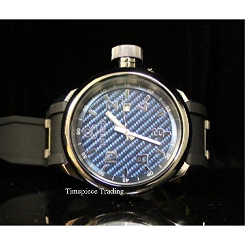 Invicta Men's 0554 Russian Diver Collection Carbon Fiber Black Rubber Watch ()