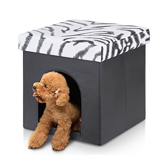 ikayaa-folding-storage-pet-ottoman-cube-bed-house-for-cats-and-small-dogs-black