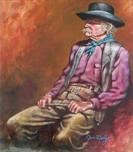 Amazon Com Old Cowboy Jim Daly Fine Art
