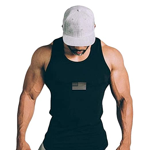 Einzelhandelspreise gehobene Qualität suche nach original Amazon.com: Nevera Men USA Flag Gym Tank Top Fitness ...