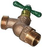 ARROWHEAD BRASS & PLUMBING 351LF 3/4'' Male Pipe Thread, Red Brass, Straight Hose Bibb, Lead Free